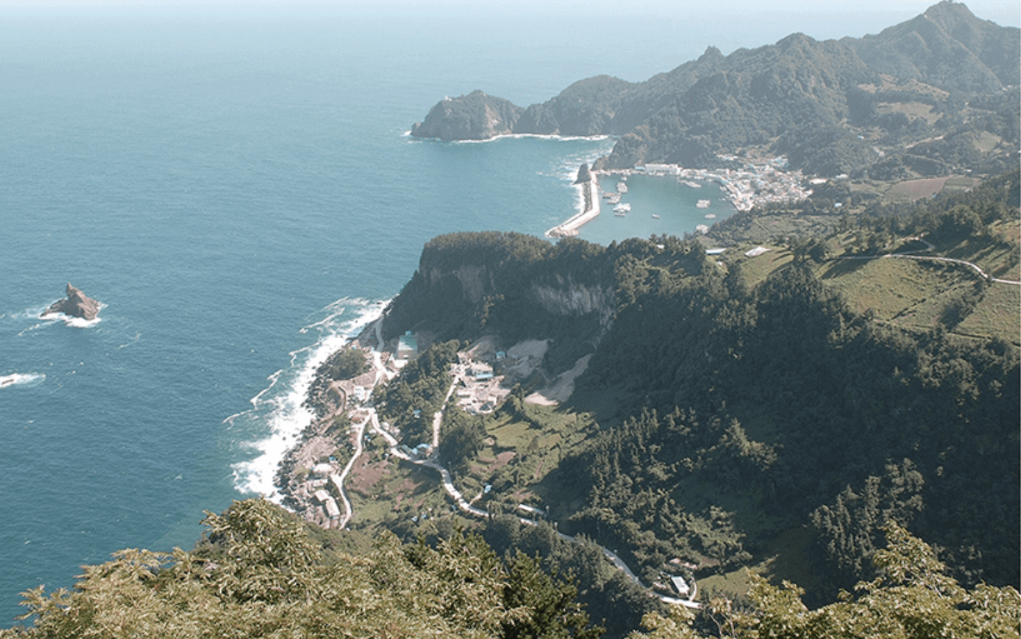 Fotografía de la isla Ulleongdo